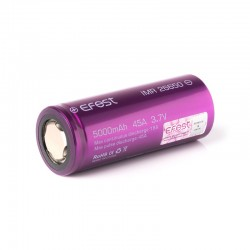 Efest Purple IMR 26650 - 5000mAh - 45A - senza pin